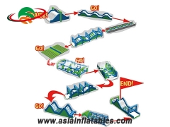 Hot Selling Inflatable Assault Obstacle Courses For School Training
