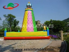 Commercial Inflatable Colorful Kids Games Climbing Wall Inflatable Rock Climbing Mountain For Sale