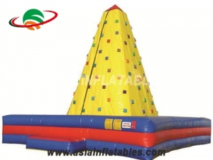 Challenge Rock Climbing Wall Inflatable Sticky Mountain Climbing For Sale & Interactive Sports Games