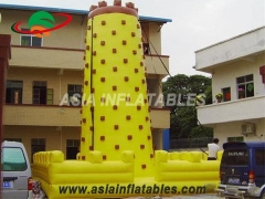 Backyard Attractive Yellow Tall Inflatable Sports Games Inflatable Climbing Wall For Fun
