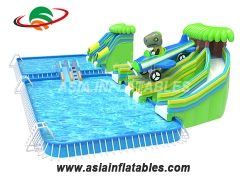 Big Inflatable water park with slide